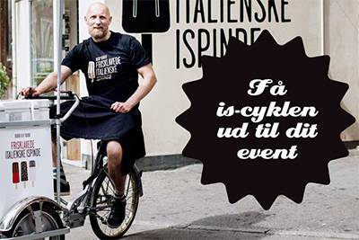 Book an ice cream bike for your event, at Svendborg Bicycle Rentals.